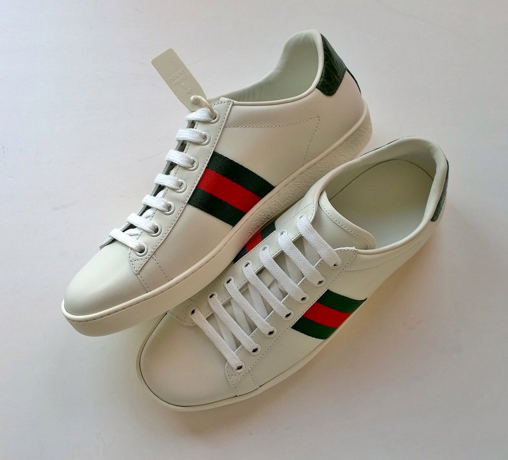 Gucci New Ace Classic Green Sneakers in