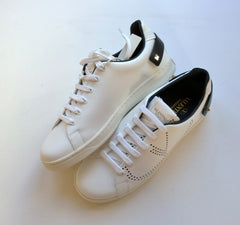 Valentino Backnet Clean White Leather Sneakers with black studs detail rockstud