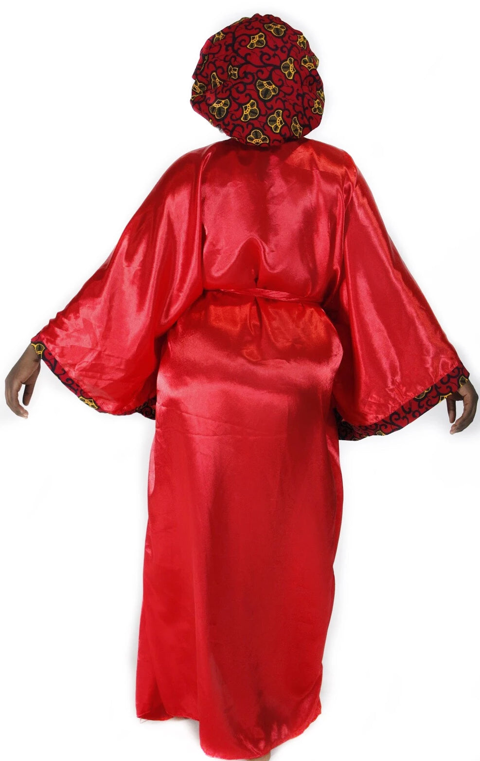 """Ɔdo pa"" Silk Robe (long)"