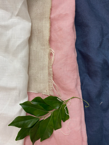 Pre Shrunk Linen Fabric, Flax Linen Stonewashed and Laundered Soft feel