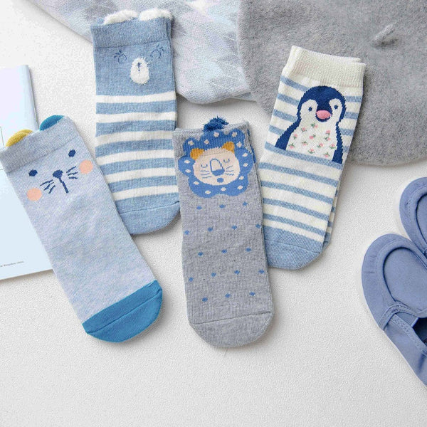 Baby / Toddler Animal Friend Sock 4-Pack - Merry BooBoo