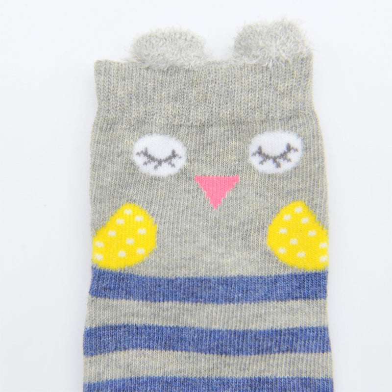 Baby / Toddler Bear and Striped Sock 4-Pack - Merry BooBoo