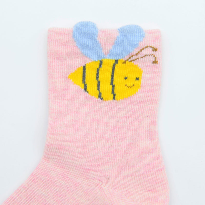 Baby / Toddler Girl and Bee Sock 3-Pack - Merry BooBoo