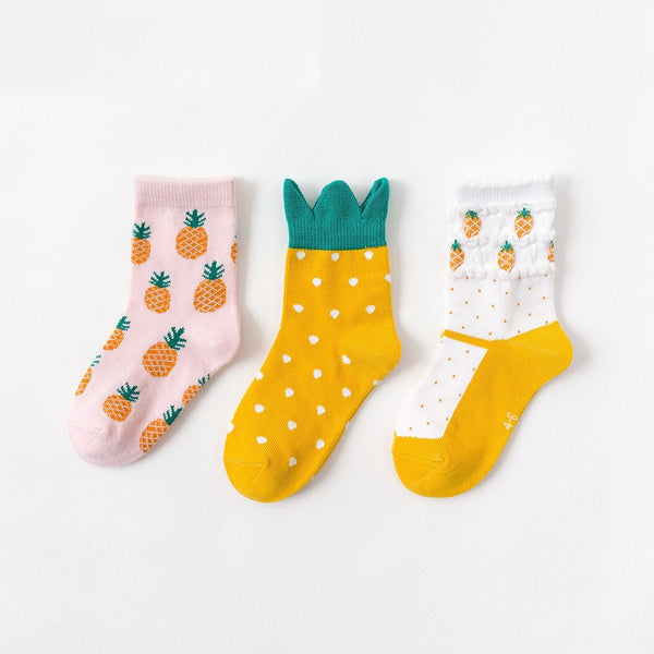 Baby / Toddler Pineapple Sock 3-Pack - Merry BooBoo