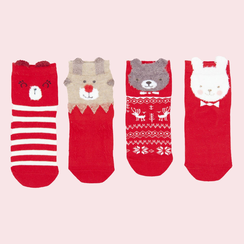 Christmas Theme Sock 4-pack - Merry BooBoo