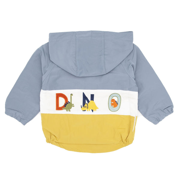 Dinosaur Appliqué Shell Jacket-Grey - Merry BooBoo