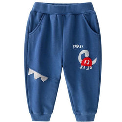 Dinosaur Print Pull On Joggers - Blue - Merry BooBoo