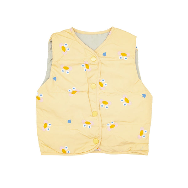 Duck Print Shell Down Vest - Merry BooBoo