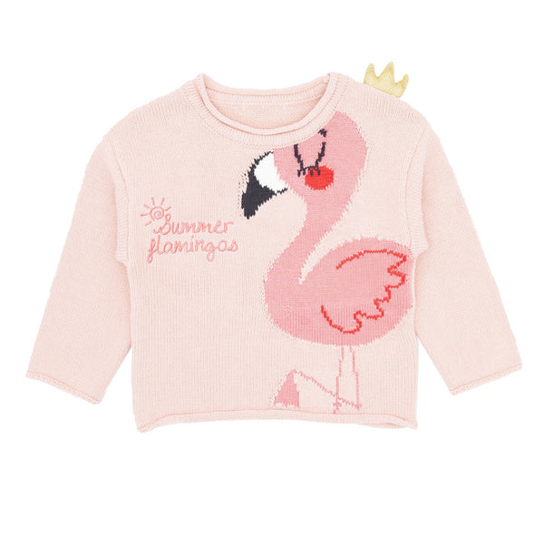 Flamingo Cotton Sweater - Merry BooBoo