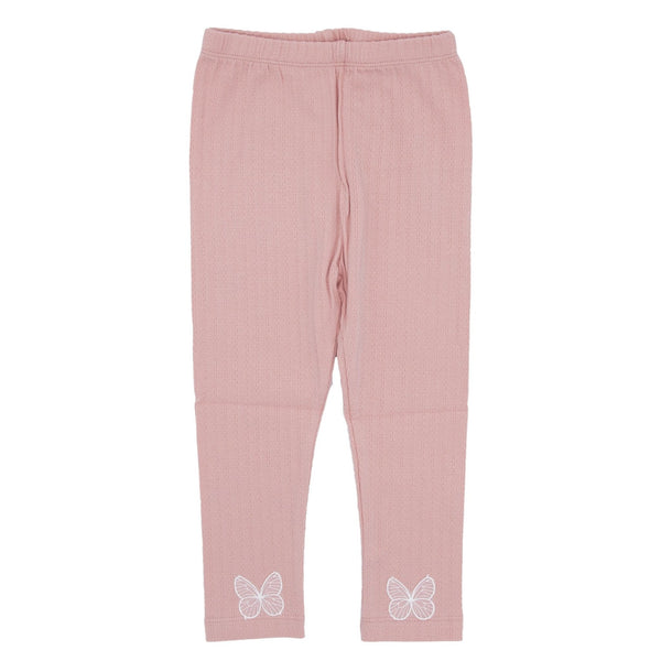 Girls Butterfly Applique Leggings - Pink - Merry BooBoo