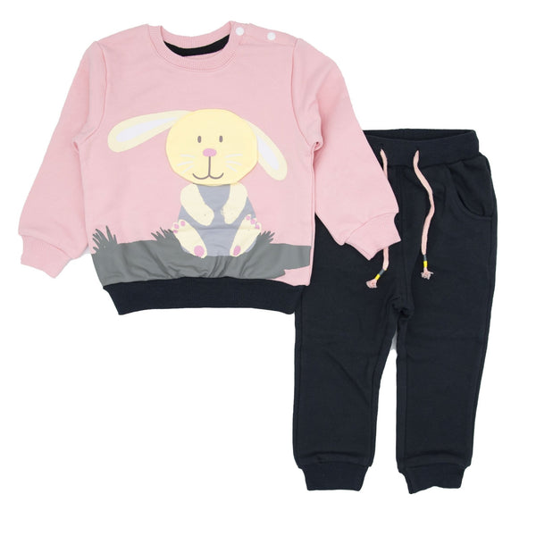 Lift-The-Flap Appliqué Sweatshirt And Pull-on Jogger Set - Merry BooBoo