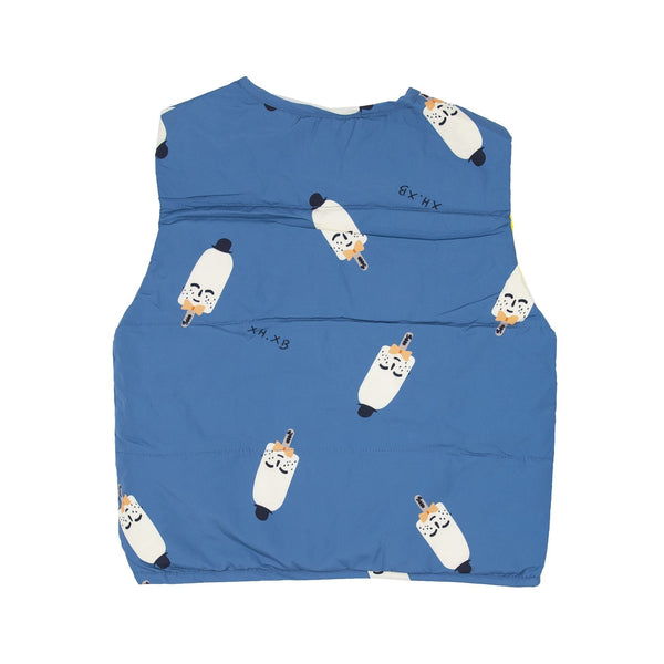 Mr. Popsicle Print Shell Down Vest - Merry BooBoo