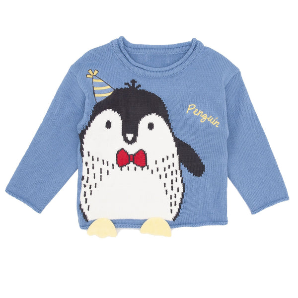 Penguin Appliqué Sweater - Merry BooBoo