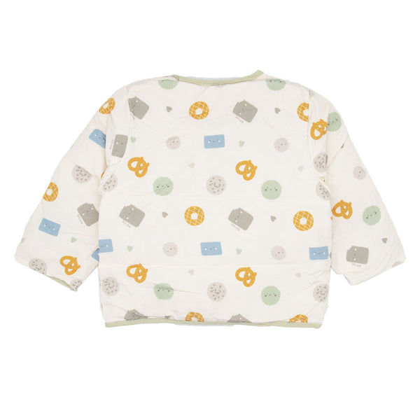 Pretzel And Cookie Print Shell Down Jacket - Merry BooBoo