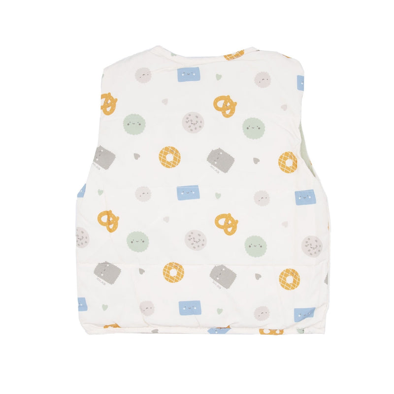 Pretzel And Cookie Print Shell Down Vest - Merry BooBoo