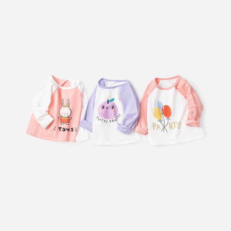Rabbit Print Long-Sleeve Baseball T-Shirt - Merry BooBoo