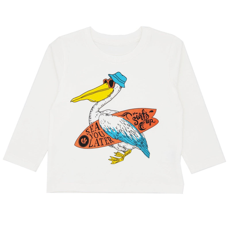 Surfing Seagull T-Shirt Long Sleeve - Merry BooBoo