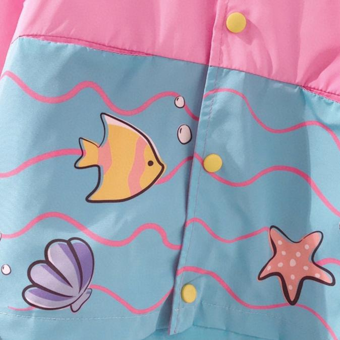 Under The Sea Shell Waterproof Jacket - Merry BooBoo