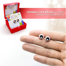 Load image into Gallery viewer, Brick Eye Open Piece Stud Earrings