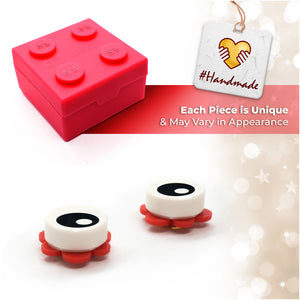 Brick Eye Open Piece Stud Earrings