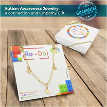 Load image into Gallery viewer, Autism Awareness Gold-Filled Necklace