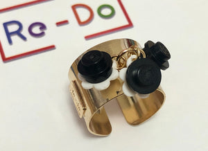 Lego Flower Trio Ring Gold-filled