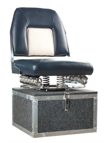 IronPillow with locker boat seat pedestal