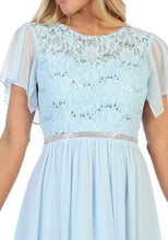 Load image into Gallery viewer, 6405-s- Short sleeve laced mid-length dress
