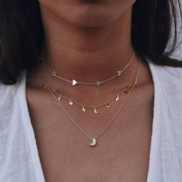 Night Lover Necklace Gold