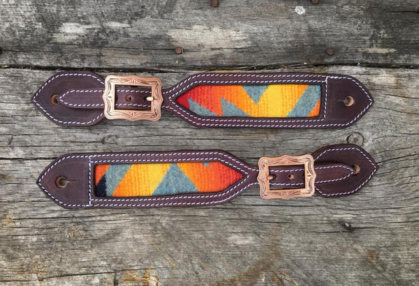Pendleton Wool Inlaid Spur Straps