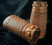 Made To Order Custom Leather Cowboy Cuffs Hand Tooled Carved