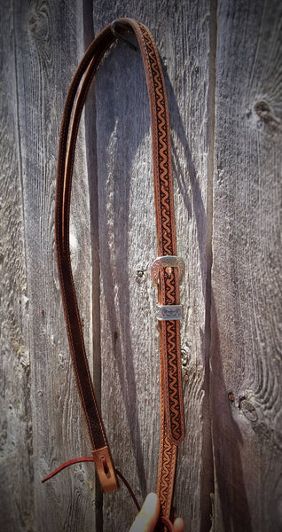 Made To Order Hand Tooled Split Ear Headstall