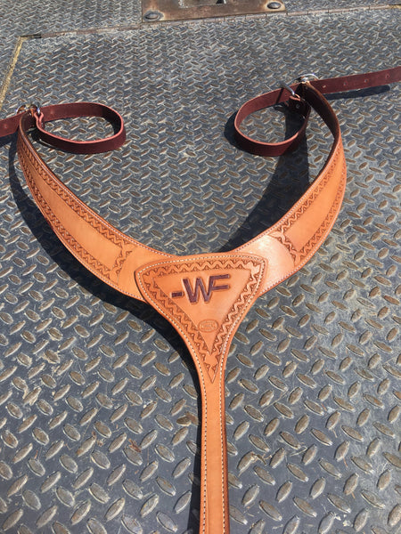 Made To Order Custom Leather Horse Martingale Pulling Breast Collar