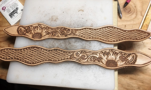 Made To Order Custom Hand Carved Leather Slobber Straps