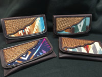 Custom for Julie- Hand Tooled Leather Clutch Wallet