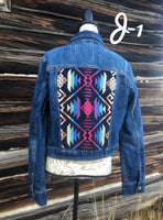 Pendleton Wool Ladies Denim Jacket Large - J1