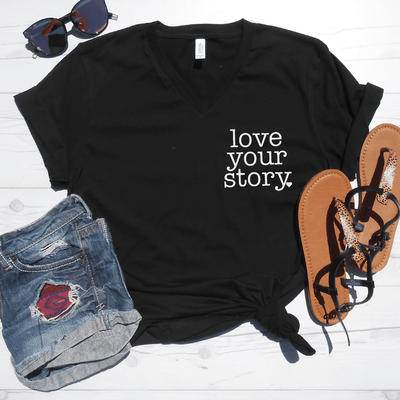 Love Your Story V-Neck Tee