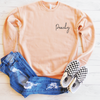 Peachy Drop Shoulder Sweatshirt