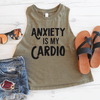 Anxiety Is My Cardio Crop Top