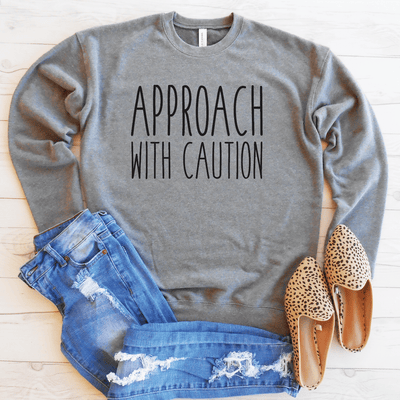 Approach With Caution Drop Shoulder Sweatshirt