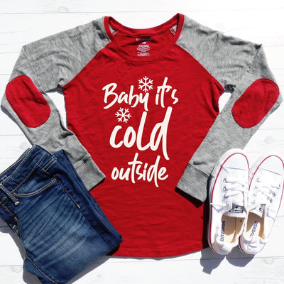 Baby Its Cold Outside Elbow Patch Shirt