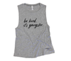 Be Kind, It's Gangster Muscle Tank
