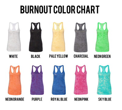 I Know I Said I Want Abs Burnout Tank