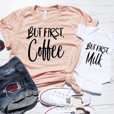 But First, Coffee & But First, Milk Shirt Set