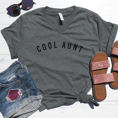 Cool Aunt V-Neck Tee