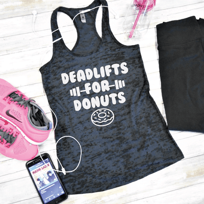 Deadlifts For Donuts Burnout Tank