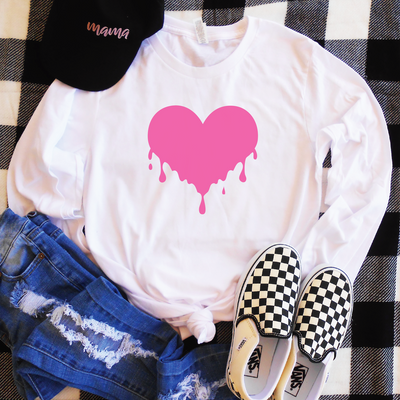 Dripping Heart Long Sleeve