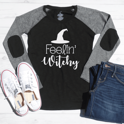 Feelin' Witchy Elbow Patch Shirt
