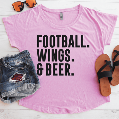 Football Wings & Beer Flowy Shirt