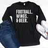 Football Wings & Beer Long Sleeve Shirt